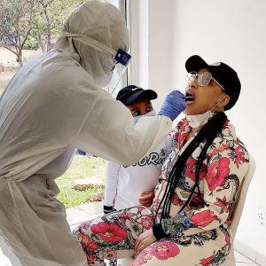 Tonto Dikeh gets tested for coronavirus (photo)