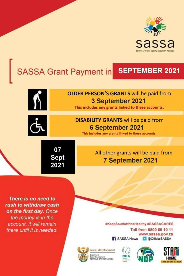 Social grants: Here are SASSA payment dates for September 2021 thumbnail