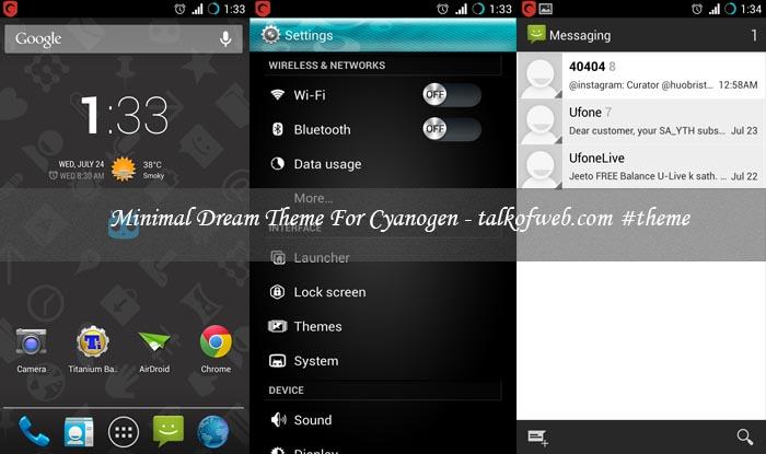 Minimal Dream For Cyanogenmod