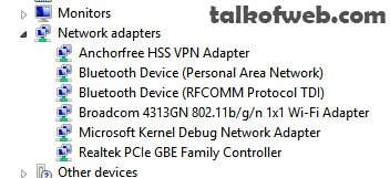 Network adapter - Device manager