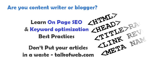 On Page SEO and Keyword Optimization