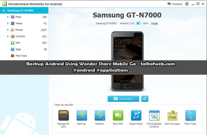Wonder Share Mobile Go to Backup Android