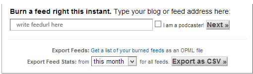 Burn your feed now through feedburner