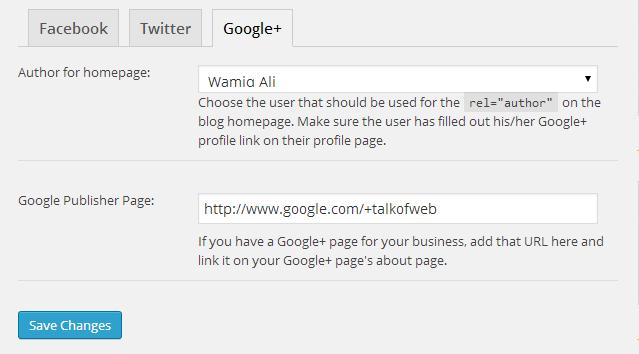 4- WordPress SEO Social media Settings For Yoast Plugin