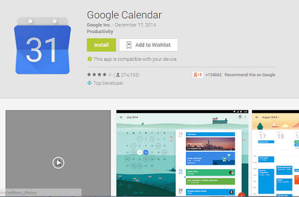 best apps calendar - Google Calendars