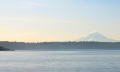 Mt Rainier from Vashon Ferry