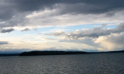 Blake Island looking west toward the Olympic Mountains