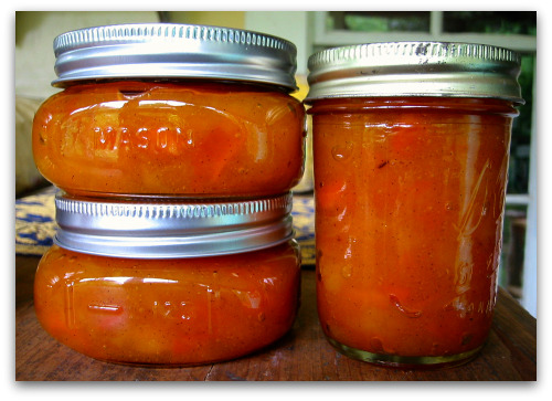 homemade canned apricot jam