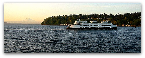 washington state ferry vashon island and mt rainier