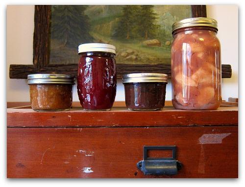 four jars of jam