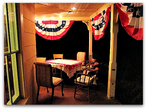 bunting under the stars
