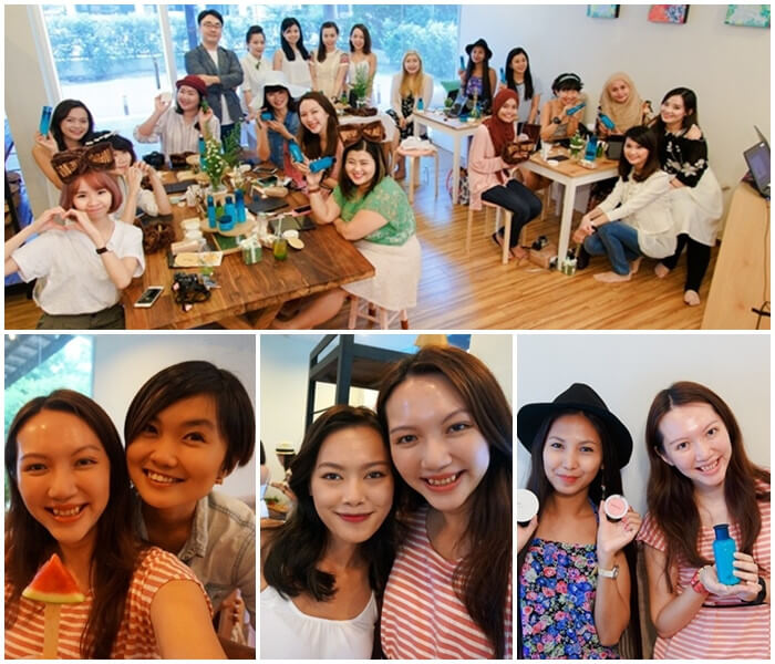 It was a jolly and fun beauty picnic with all these beautiful people! We're the innisfree bloggers, yo!