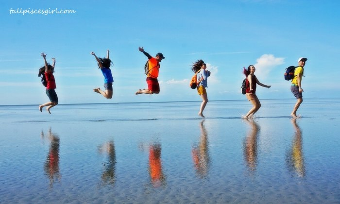 Jump shot @ Sky Mirror, Sasaran Beach