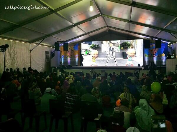 Lots of people were already watching Upin & Ipin on screen
