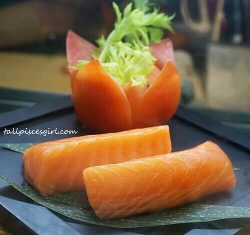 Mouthwatering sashimi