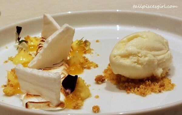 Dessert: Deconstructed Lemon Meringue Pie
