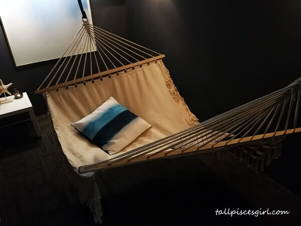The nap room that gets the most WOW - it's a hammock!