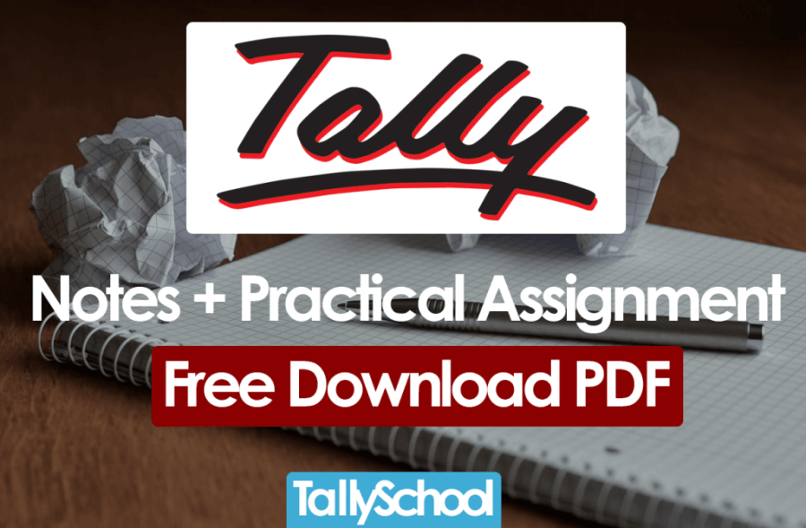 Tally ERP 9 Notes   Practical Assignment   Free Download PDF Tally ERP 9 Notes