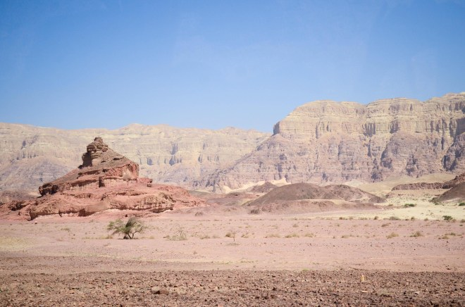 The Timna Valley in southern Israel is not mentioned in the Bible but copper mining was done in this area during the biblical period.