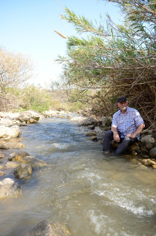 Experience the Jordan River that still flows to this day although irrigation has diminished its size.