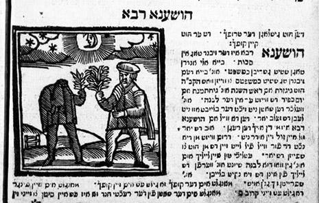 Hoschannah Rabbah im Minhagim Buch