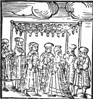 Chuppah - aus einem alten Minhoghim-Buch