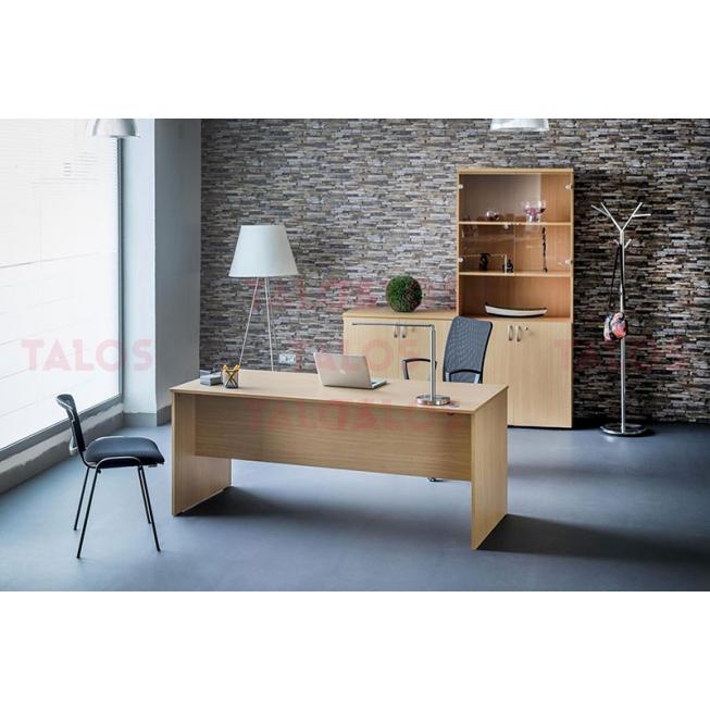 bureau bois 150 a 2 tiroirs suspendus