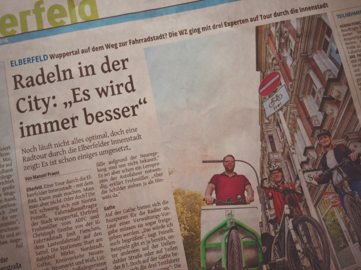 WZ-Ortstermin: Radfahren in Elberfeld