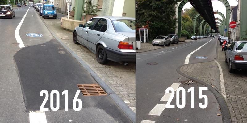 Kaiserstraße: Der Hubbel ist weg