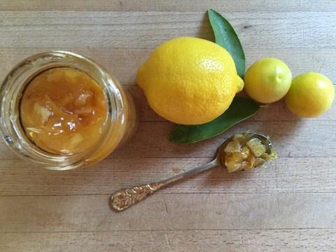 ריבת לימון וג'ינג'ר לניצול עצי הלימון או סתם לאכילה על טוסט