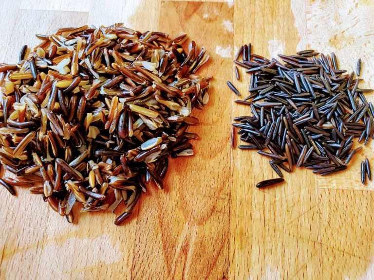 אורז בר לפני ואחרי בישול