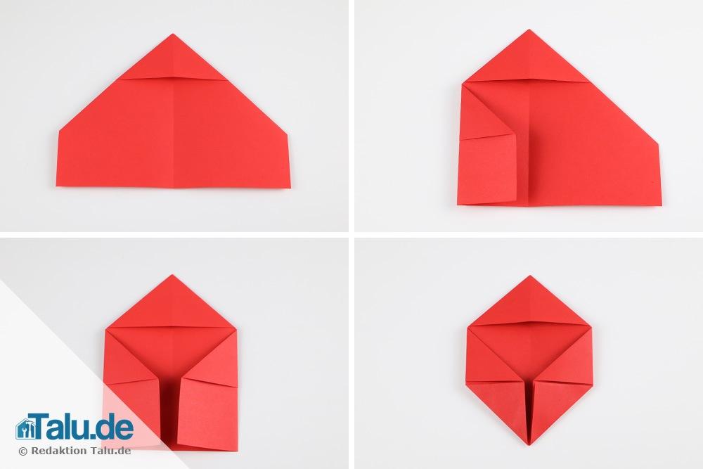 Great Herz Falten Aus Papier Din A4 Top Origami Brief Falten
