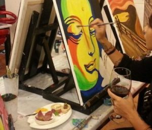 Paint n' Sip Party