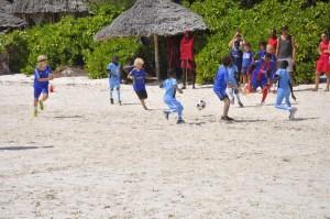TFC playing against the International School ofZanzibar