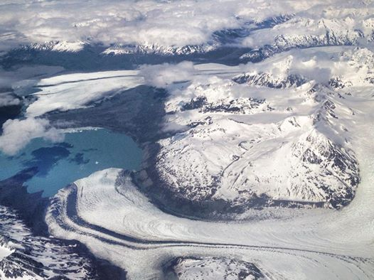 Flying into Anchorage