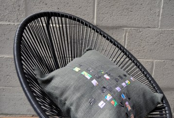 coussin slowdeco lin, upcycling
