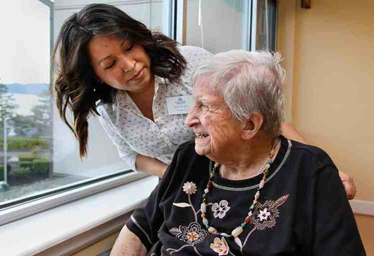 retirement community photo shoot