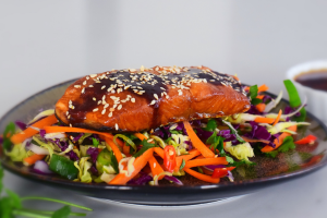 Asian Salmon and Coleslaw