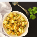 simple Indian cauliflower dish with cumin and cream