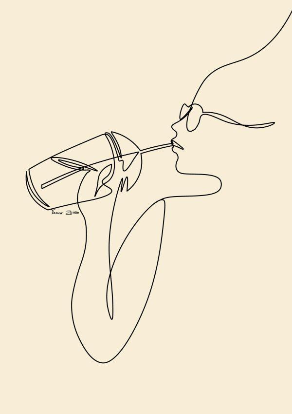 ציור של אייס קפה