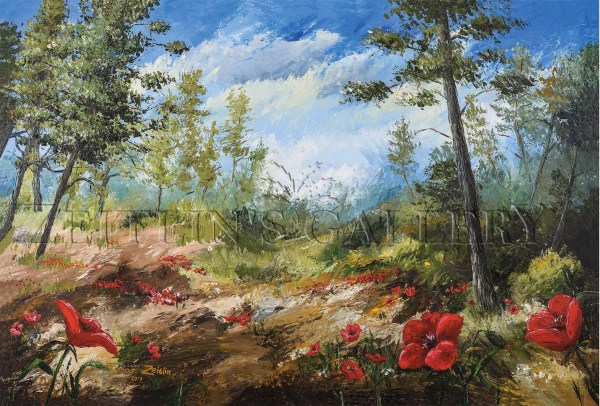 ציור של כלניות בעמק הארזים