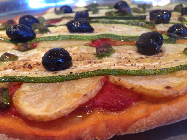 Pizza pdt courgettes