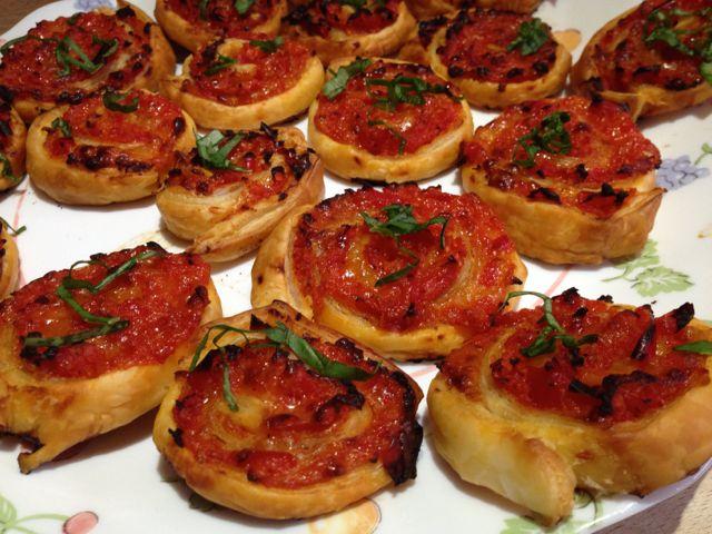 Feuilletés poivron tomate