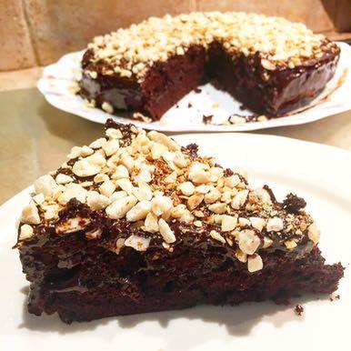Dark chocolate fudge cake version Tambouille