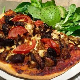 Pizza au Shitakés et Temph marinés - 1