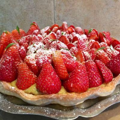 Tarte aux fraises végétale - 1