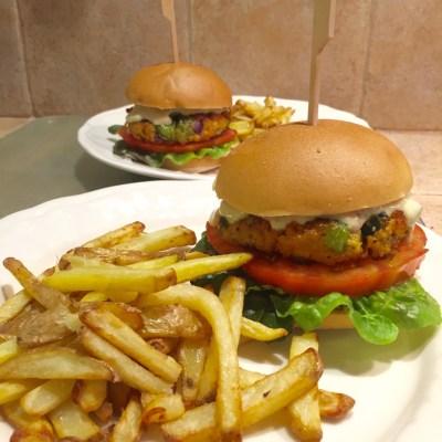 Burger de lentilles, poivron et courgette - 1
