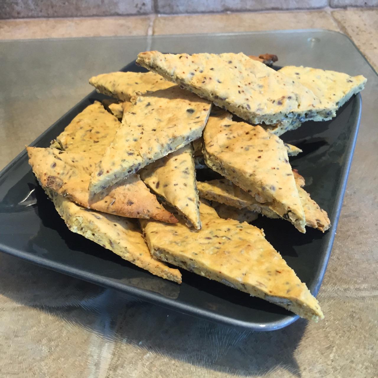 Crackers de pois chiche aux graines
