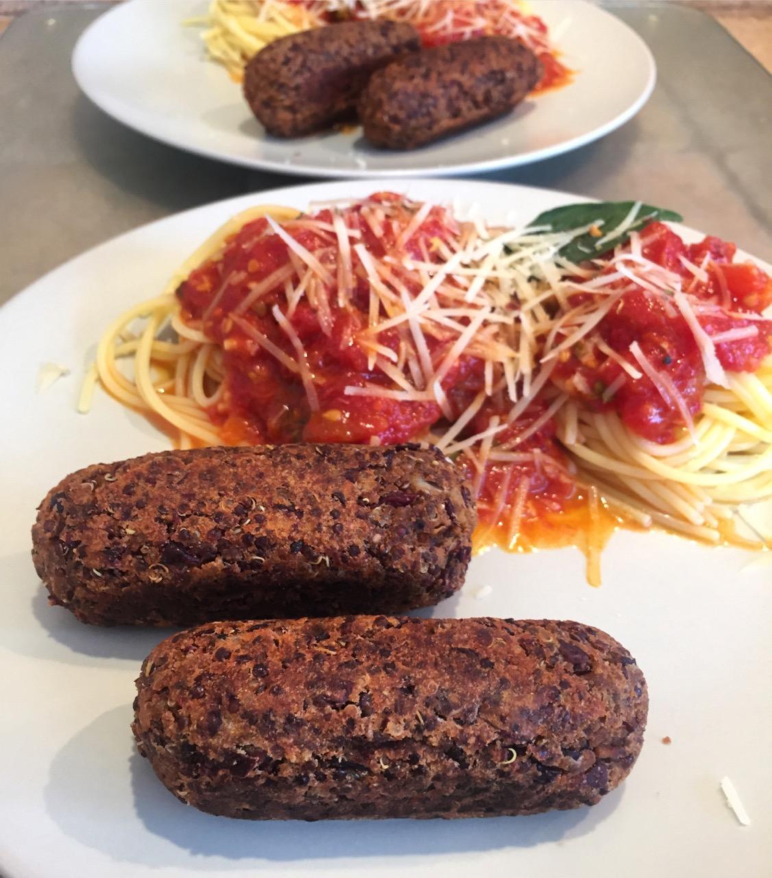 Galettes ou saucisses de haricots rouges quinoa
