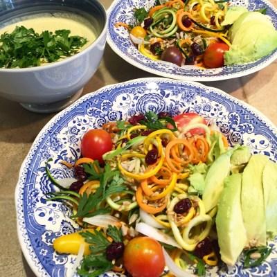 zoodles de courgettes sauce cajou légumes - 1